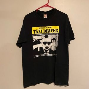 Classic Taxi Driver with Robert Dinero T-Shirt Blk